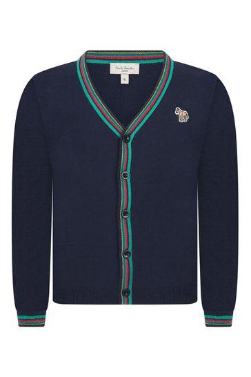 Boys Navy Knitted Cardigan