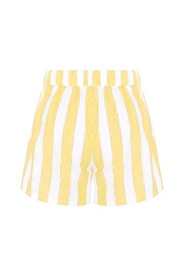 Carrément Beau Girls White Cotton Shorts