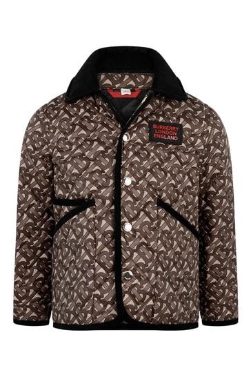 걸스 브라운 브레이들 퀼트 재킷