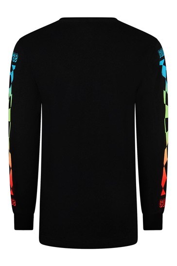 Black Cotton Long Sleeve T-Shirt