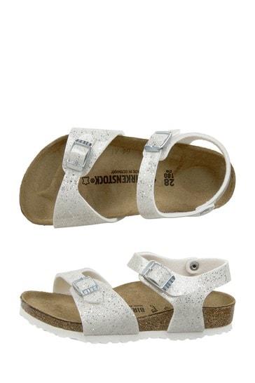Girls White Rio Sandals