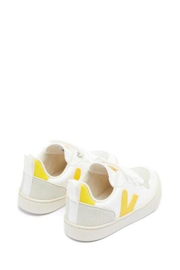 Veja Kids White Leather Lace-Up