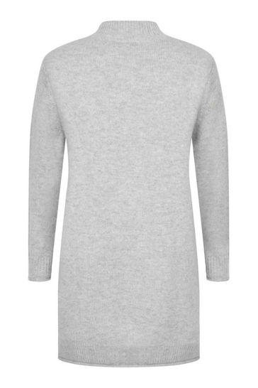 Girls Grey Wool & Cashmere Dress