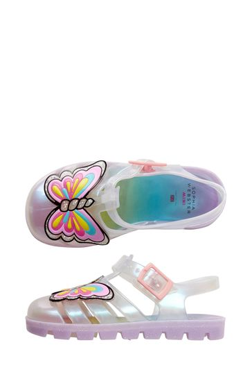 Girls Multicoloured Unicorn Jelly Sandals