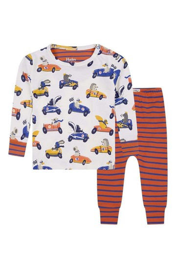Baby Boys Organic Cotton Cream Pyjama Set