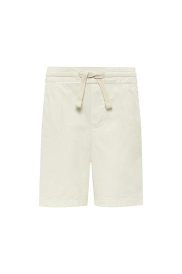Baby Boys White Cotton Shorts