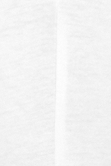 Girls White Cotton Branded T-Shirt
