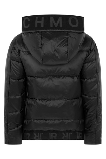 Boys Black Down Padded Jacket
