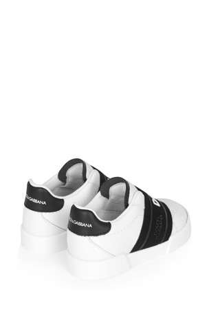 Dolce & Gabbana Baby Boys White Leather Trainers