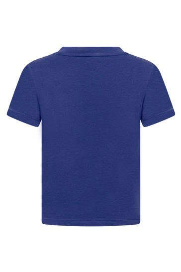 Lanvin 보이즈 블루 코튼 티셔츠