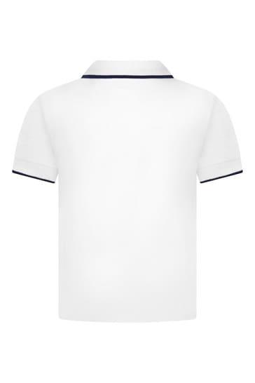 Baby White Cotton Polo Shirt