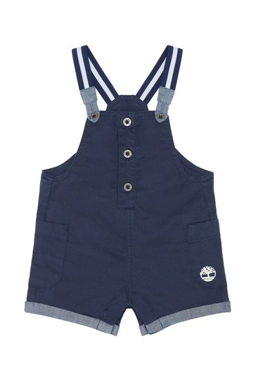 Baby Navy Cotton Dungarees