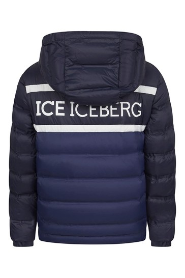 Boys Blue Nylon Padded Jacket