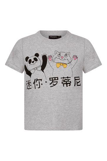 Mini Rodini Boys Grey Organic Cotton T-Shirt