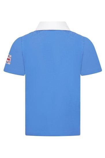 Boys Blue Cotton Rugby Shirt