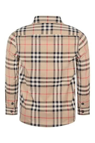 Boys Beige Vintage Check Frederick Shirt