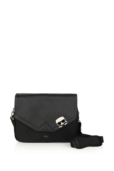 Black Changing Bag With Mat & Bottle Holder