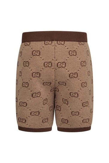 Baby Boys Beige GG Wool Shorts