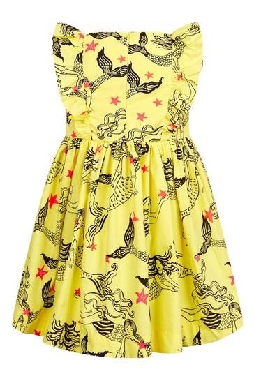 옐로우 코튼 드레스