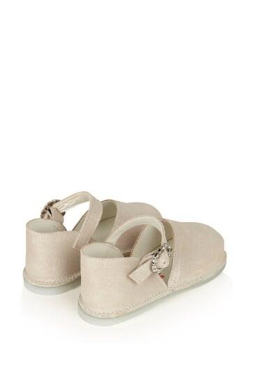 아기 소녀 골드 가죽 신발