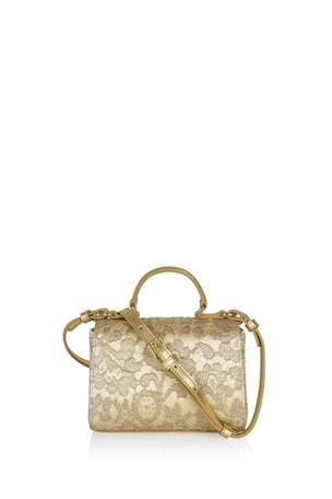 Dolce & Gabbana Girls Gold Leather Bag