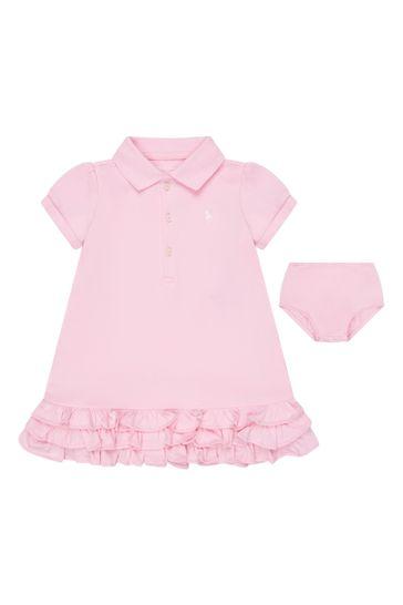 베이비 걸스 핑크 코튼 드레스