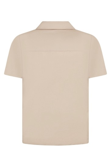 Boys Beige Cotton Shirt