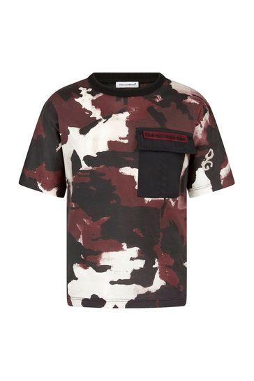 Dolce & Gabbana Boys Burgundy Cotton T-Shirt
