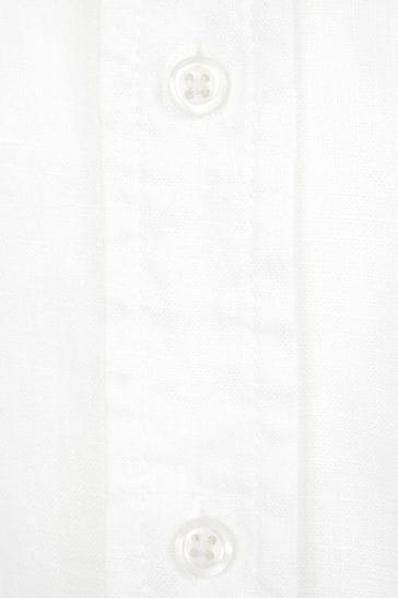 Boys White Linen Shirt