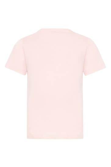 Baby Girls Pink Cotton T-Shirt