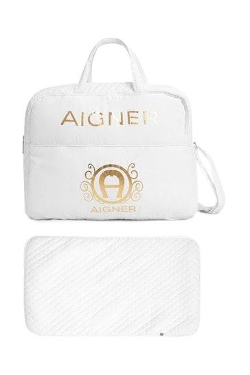 Aigner Baby White Changing Bag