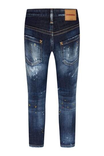 Boys Blue Cotton Jeans