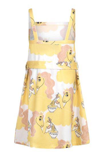 Mini Rodini 소녀 옐로우 드레스