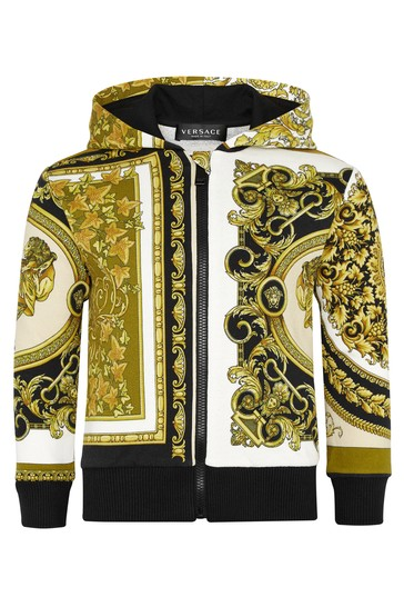 Gold Cotton Zip Up Top