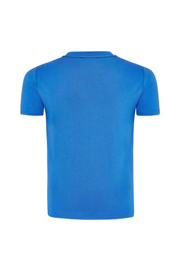 보이즈 블루 코튼 티셔츠