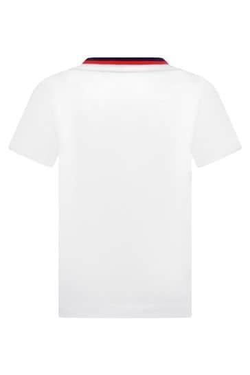 보이즈 화이트 코튼 저지 반소매 티셔츠