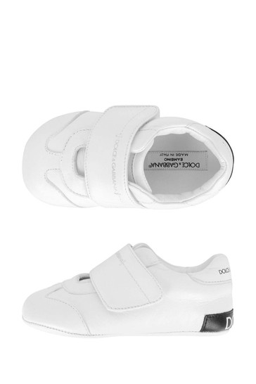 Baby Boys White Leather Pre-Walker Trainers