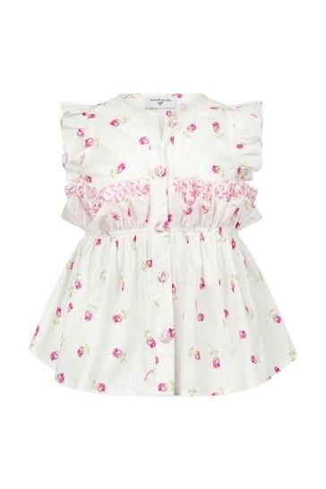 Baby Girls Cream Cotton Girls Blouse