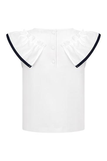 Girls White Cotton Blouse