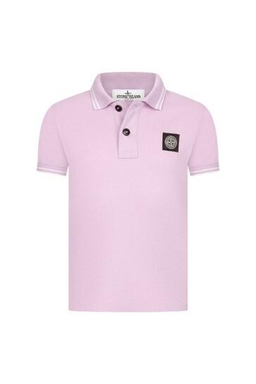 Boys Pink Cotton Poloshirt