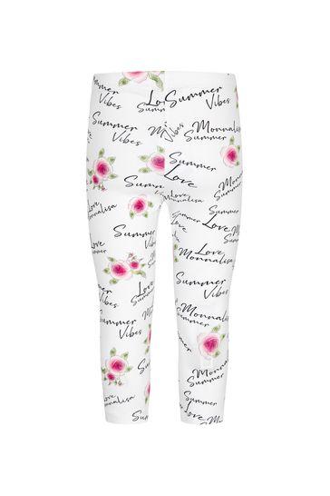 Girls White Cotton Leggings