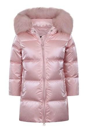 걸스 핑크 다운 패딩 재킷