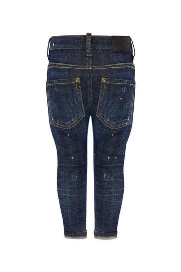 Baby Boys Blue Cotton Jeans