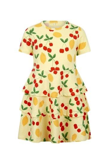 Mini Rodini Girls Yellow Cotton Dress