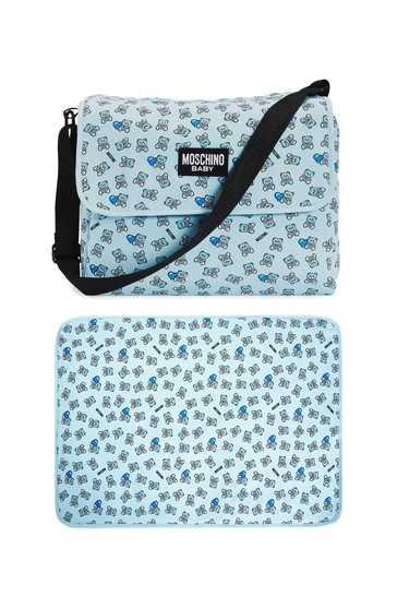 Baby Boys Blue Cotton Changing Bag