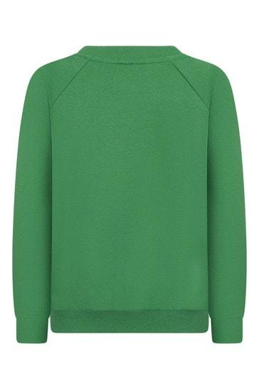 Green Cotton Sweat Top