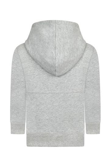 Boys Grey Cotton Hoody