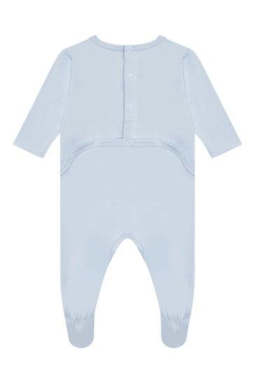 Baby Boys Blue Cotton Babygrow