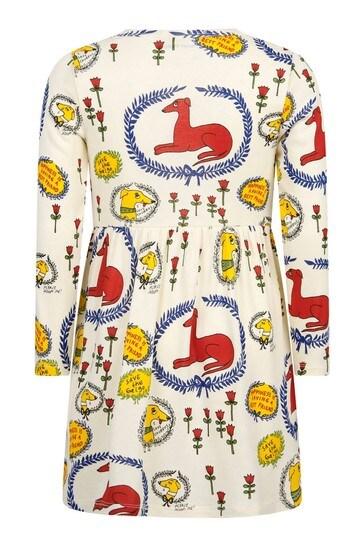 Mini Rodini Girls Cream Cotton Dress