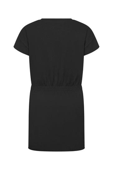 Girls Black Cotton Dress